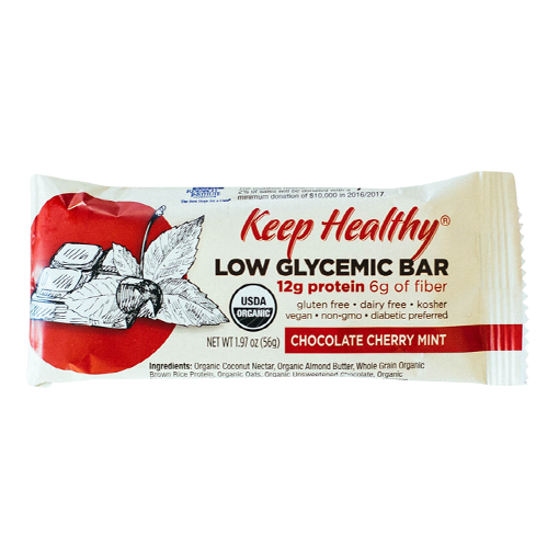 Keep Healthy Low Glycemic Bar Chocolate Cherry Crunch