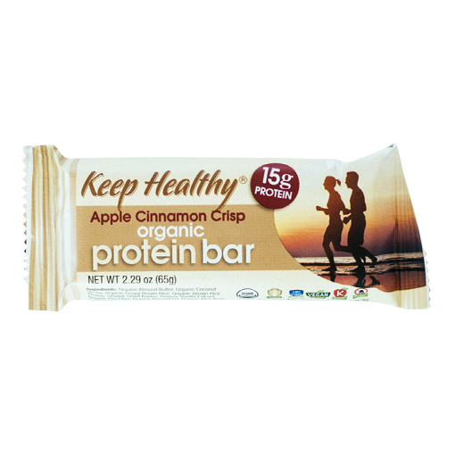 Keep Healthy Organic Protein Bar Apple Cinnamon Crisp