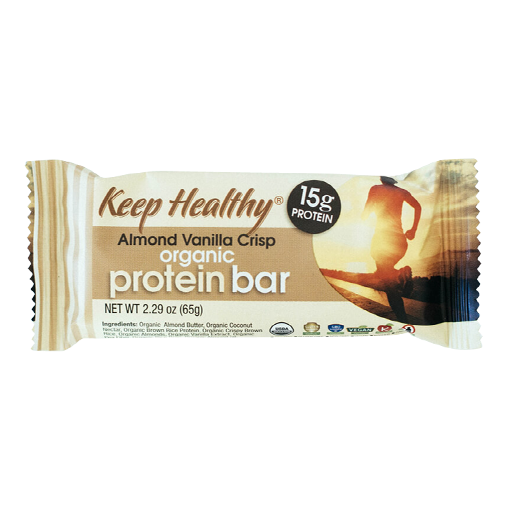 Keep Healthy Organic Protein Bar Almond Vanilla Crisp