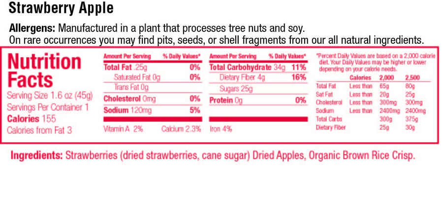 keep healthy fruitkies strawberry apple snack bar