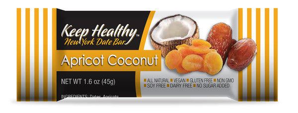 healthy snack original date bar apricot and coconut