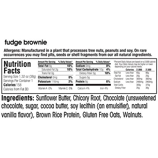 Fruitkies 99c Fudge Brownie ingredients