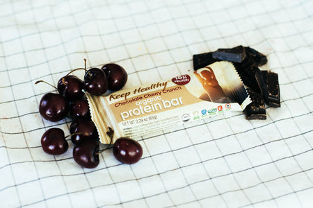 15 gram organic protein bar chocolate cherry crunch