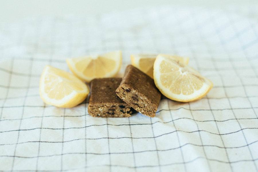 Low Glycemic Protein Bar no sugar alcohols lemon zest