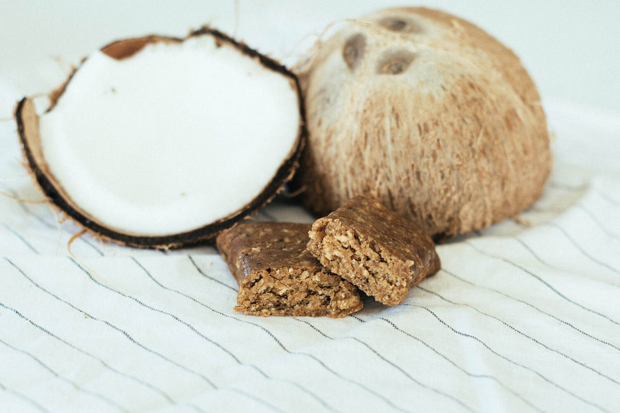 Low Glycemic Protein Bar no sugar alcohols coconut crunch