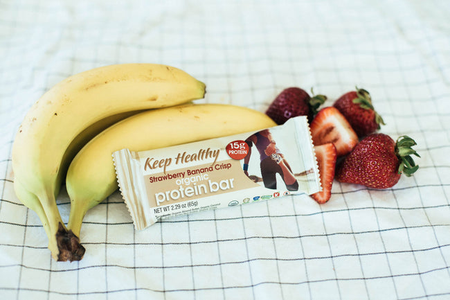 15 gram organic protein bar strawberry banana
