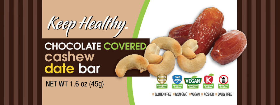 healthy snack original date bar chocolate covered cashew