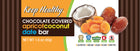 healthy snack original date bar chocolate covered apricot coconut
