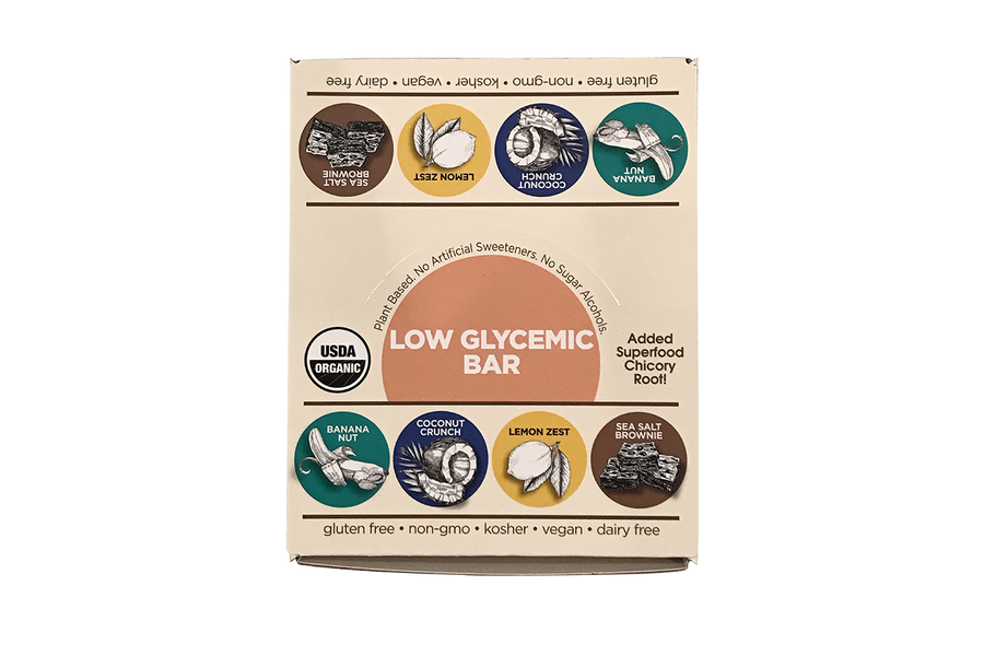 Low Glycemic Bar Variety Pack 16 Bar Mixed Caddy