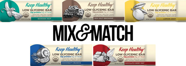 Low Glycemic Protein Bar no sugar alcohols assortment