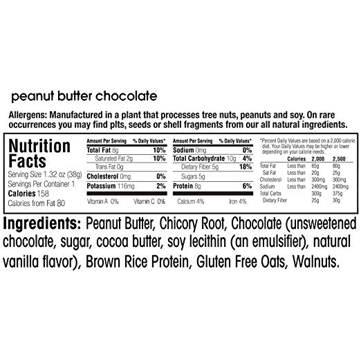 Fruitkies 99c Peanut Butter Chocolate snack bar ingredients