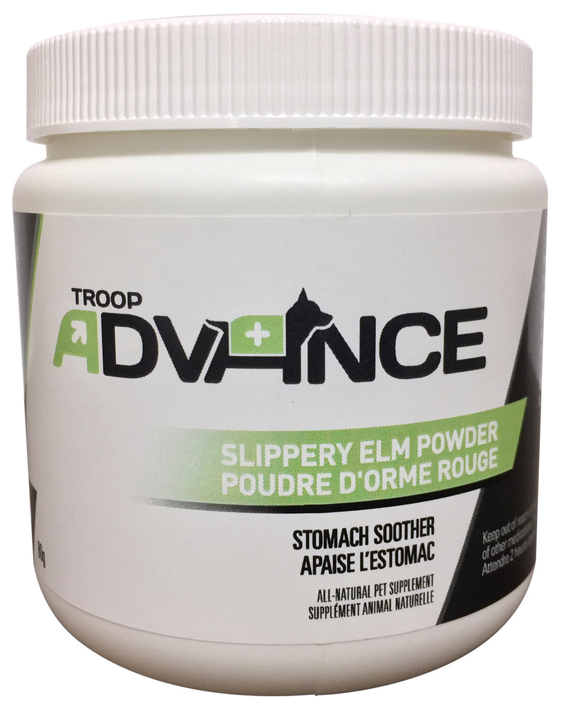 Troop Advance™ Best Natural Supplements for Dogs Slippery Elm Powder 80g Jar