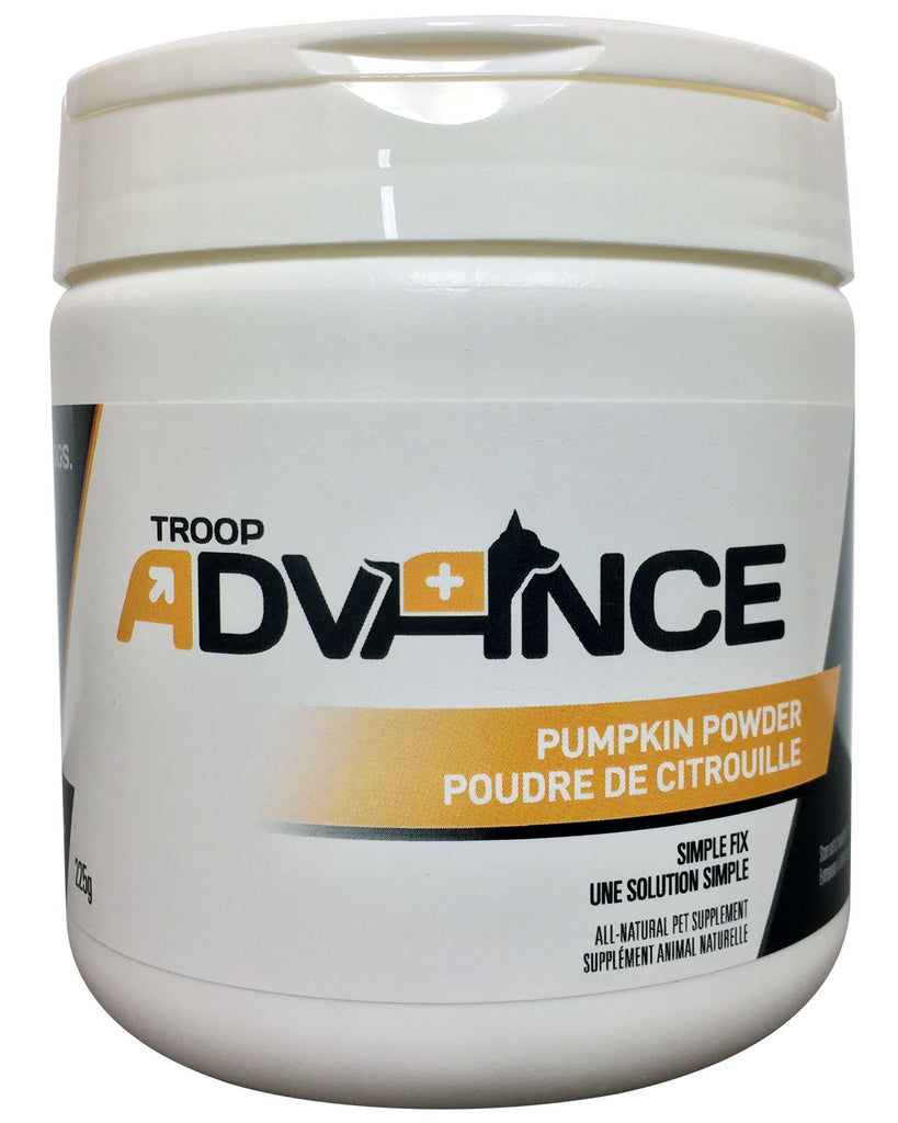 Troop Advance™ Best Natural Supplements for Dogs Pumpkin Powder 225g Jar