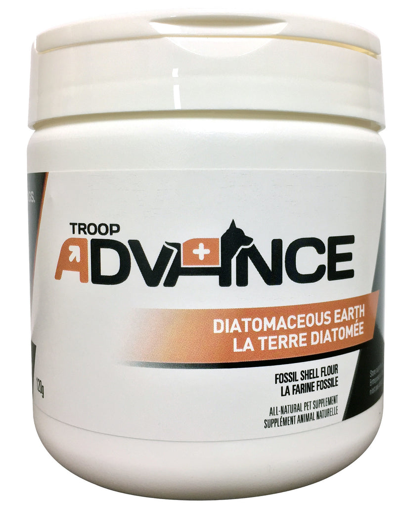 Troop Advance Best Natural Supplements for Dogs Diamatacious Earth 120g Jar