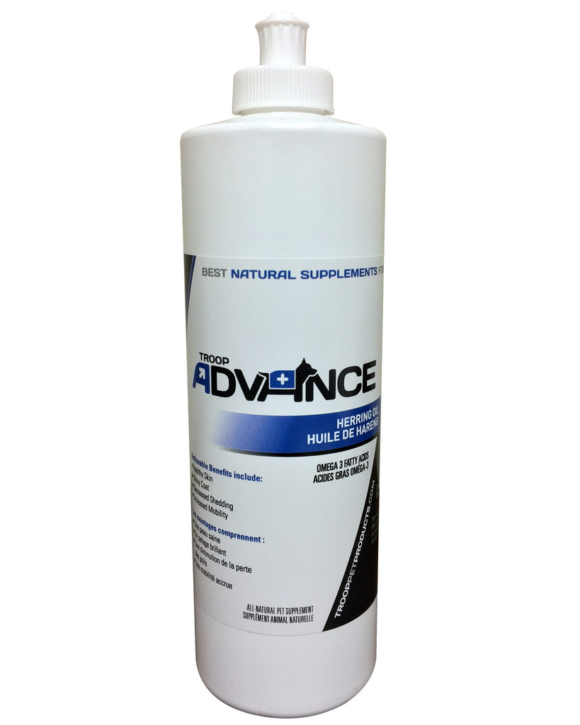 Troop Advance™ Best Natural Supplements for Dogs Herring Oil 500ml