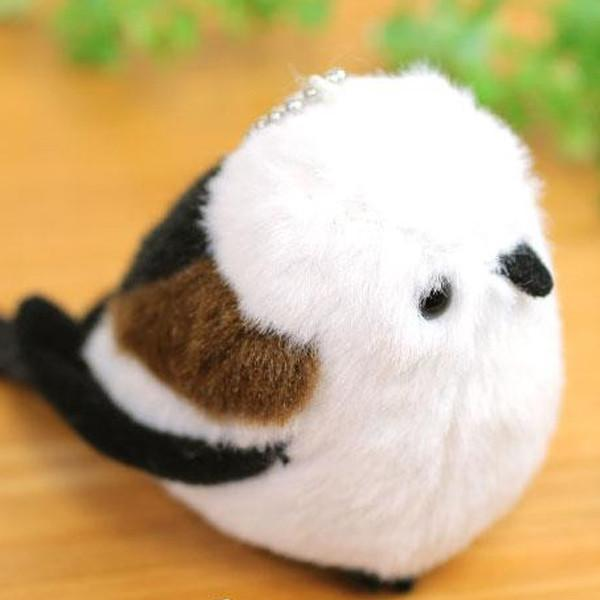 Munyu Mamu Soft Mini Bird Stuffed Ball Chain Accessory (Long-tailed Tit) - Hamee - 1