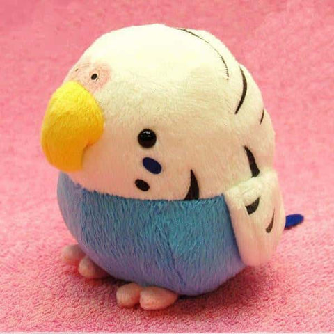 Munyu Mamu Soft Medium Bird (Budgerigar / Blue M size)  - Stuffed Animal Plush Toy