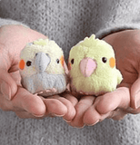 Munyu Mamu Petite Bird Beanbag Toy (Cockatiel / Gray) - Stuffed Animal Plush Toy - Hamee.com