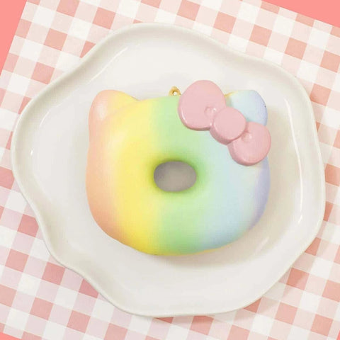 Sanrio Hello Kitty Cute Rainbow Donut Squishy - Hamee.com