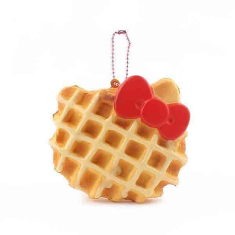 Sanrio Hello Kitty Squishy Face Shaped Waffle Ball Chain (White Chocolate)