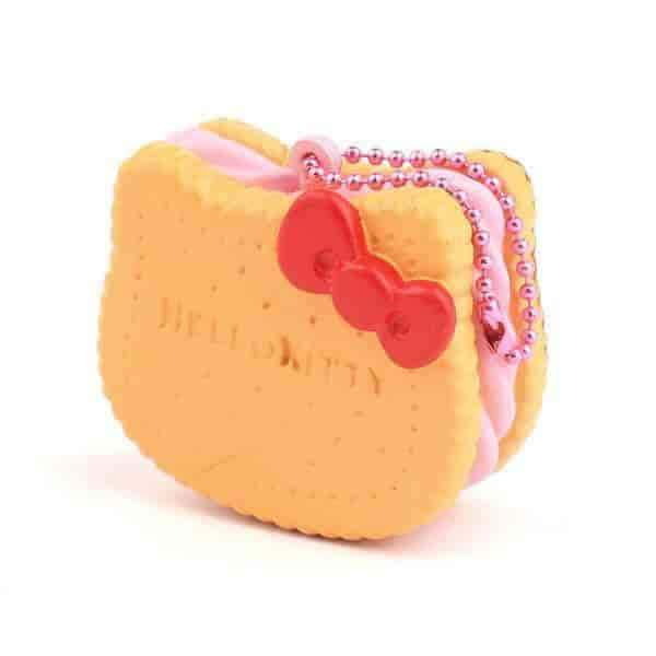 Sanrio Hello Kitty Squishy Face Shaped Biscuit Ball Chain (Plain / Strawberry Cream) - Hamee