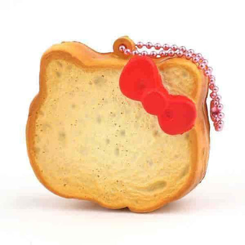 Sanrio Hello Kitty Squishy Face Shaped Rusk Ball Chain (Plain) - Hamee US