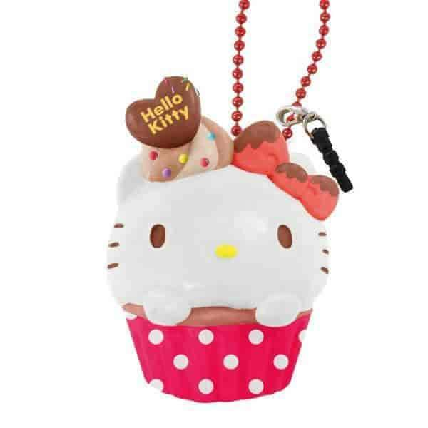 Sanrio Squishy Cupcake Ball Chain and Earphone Jack Accessory - Hamee - 2