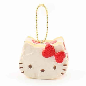 Sanrio Hello Kitty Lovely Sweets Series Keychain Squishy (Shortcake) - Hamee US