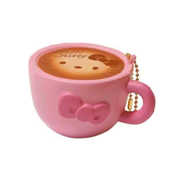 Sanrio Hello Kitty Squishy Lovely Sweets Series Latte Ball Chain (Pink) - Hamee