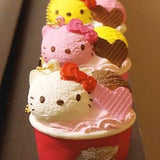 Sanrio Hello Kitty Squishy Lovely Sweets Series Ice Cream Cup Ball Chain - Hamee.com