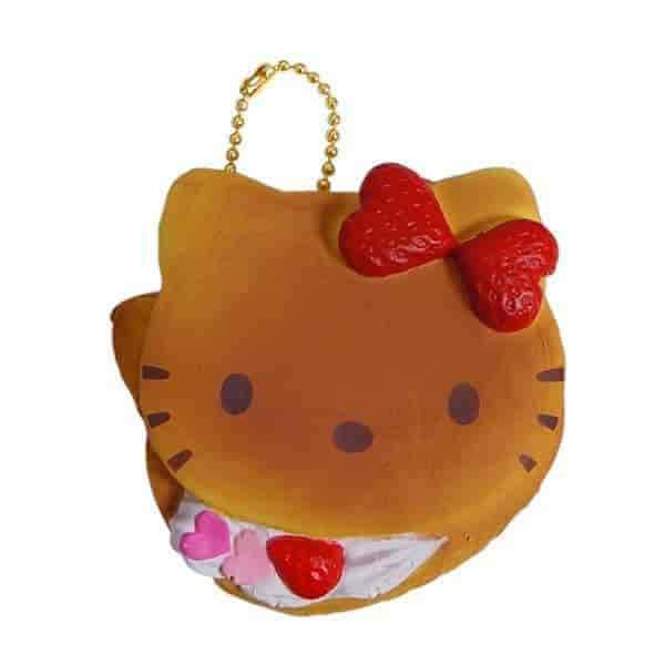 Sanrio Hello Kitty Squishy Lovely Sweets Series Pancake Ball Chain - Hamee - 2