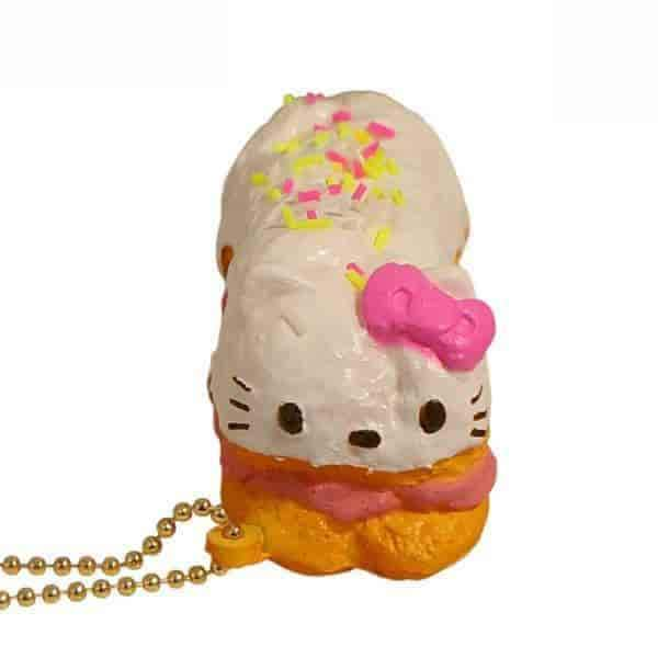 Sanrio Hello Kitty Lovely Sweets Series Keychain Squishy (Eclair) - Hamee US