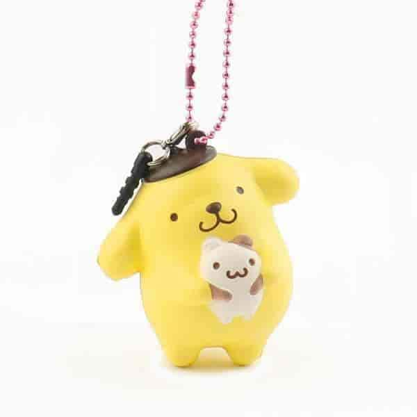Sanrio Pompompurin Ball Chain and Earphone Jack Accessory (Muffin) - Hamee