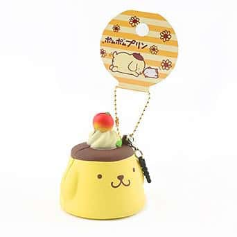 Sanrio Pompompurin Earphone Jack Cell Charm/Accessory (Pudding / Plain) - Hamee US