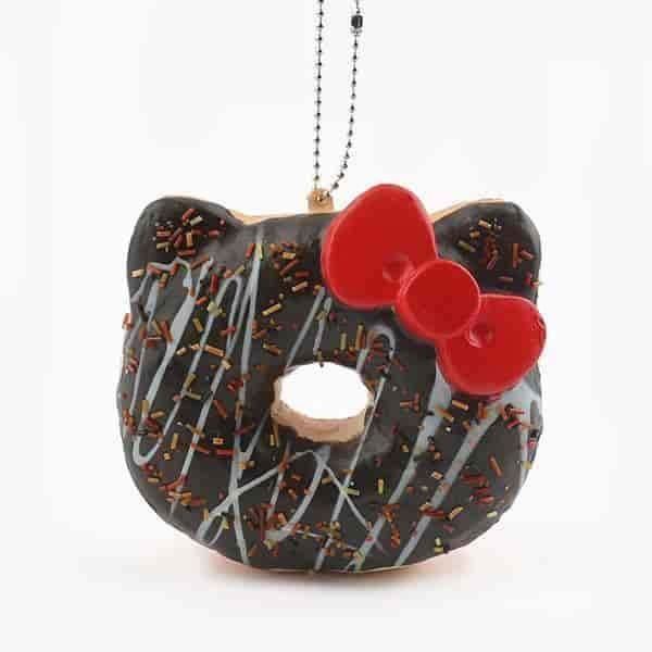 Sanrio Hello Kitty Super Soft Squishy Big Donut Keychain - Hamee US