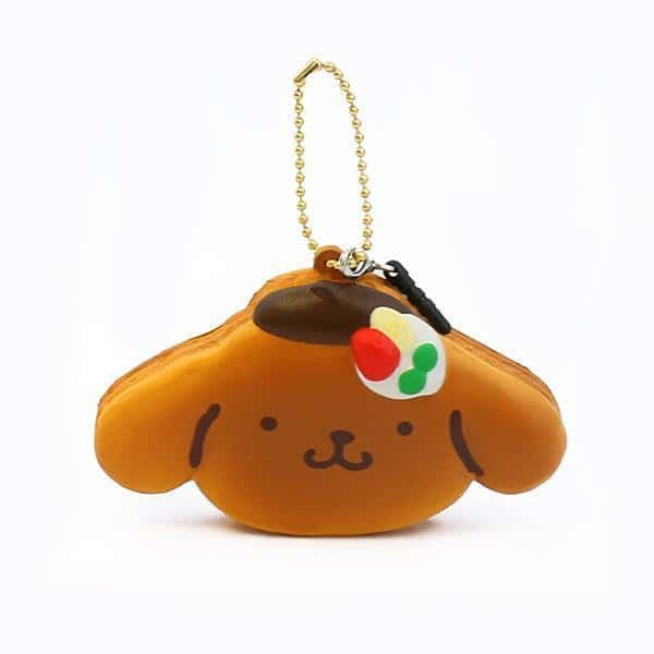 Sanrio Pompompurin Squishy Pancake Earphone Jack Cell Charm/Accessory - Hamee US
