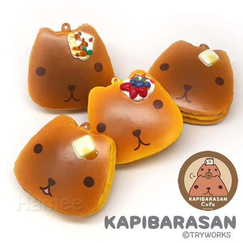 Kapibarasan Squishy Ball Chain Pancakes Set (x 4 Pieces)
