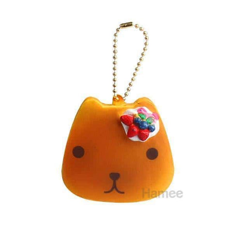 Kapibarasan Pancake Squishy Keychain Collector's [SET] 4 pcs [variant.title] - Hamee.com