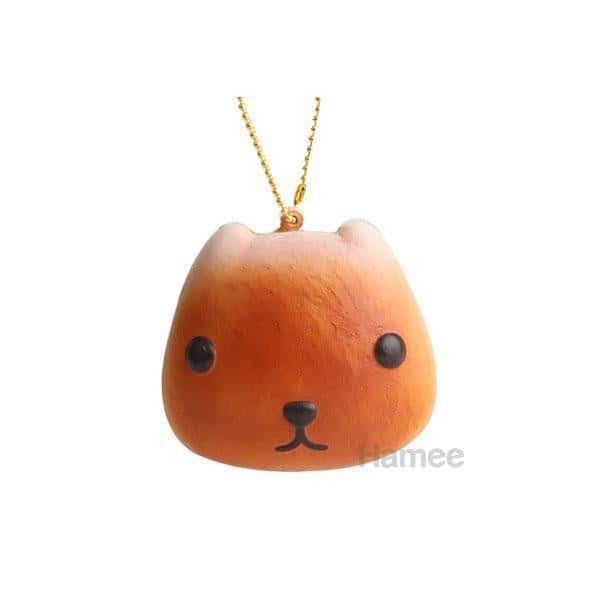 Kapibarasan Bread Squishy Ball Chain