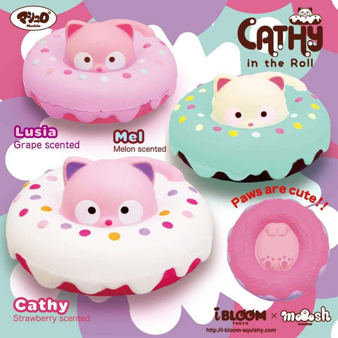 [Genuine] iBloom Cathy in The Roll Scented Slow Rising Animal Squishy - Hamee US