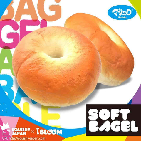 [Genuine] iBloom Soft Bagel Slow Rising Bread Squishy - Hamee US