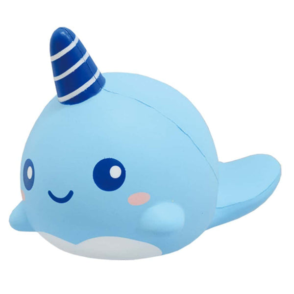 [Genuine] iBloom Billie The Whale Mint Scented Slow Rising Animal Squishy (Light blue) - Hamee US