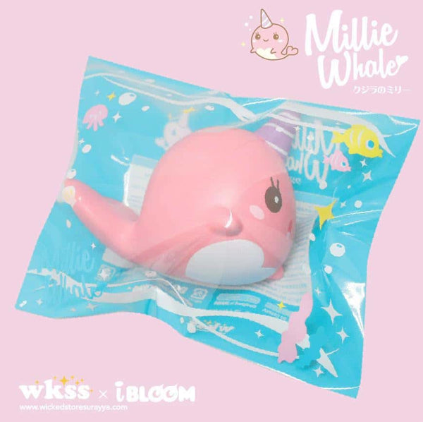 [Genuine] iBloom Millie The Whale Peach Scented Slow Rising Animal Squishy (Pink) - Hamee.com