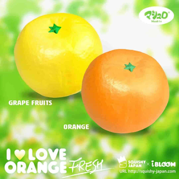 iBloom Squishies I Love Orange Fresh Scented Orange Slow Rising Squishy