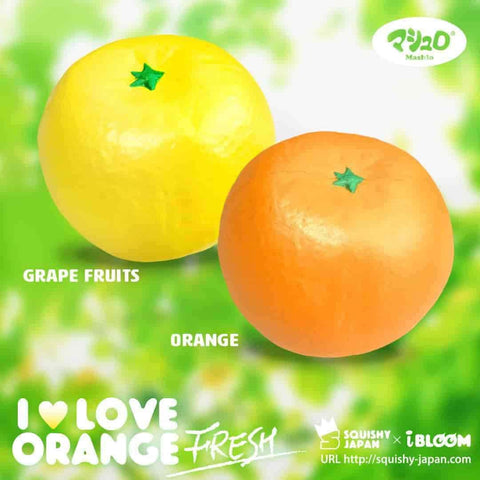 [Genuine] iBloom I LOVE ORANGE Fresh Scented Orange Slow Rising Squishy - Hamee US