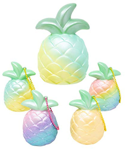 [Genuine] iBloom Cutie Pineapple Slow Rising Squishy (5Pc Set)