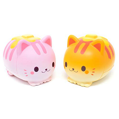 [Genuine] iBloom Nyan Pancake Jumbo Scented Slow Rising Squishy 2-Piece Set (Strawberry, Bread) - Hamee.com