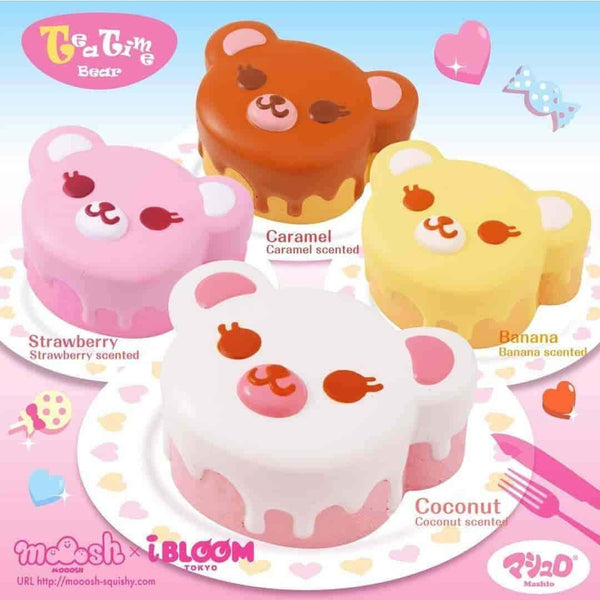 [Genuine] iBloom Tea time Bear Scented Slow Rising Animal Squishy - Hamee.com