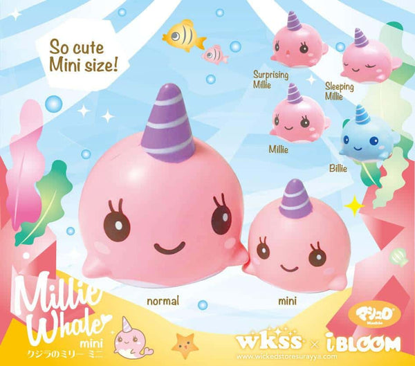 [Genuine] iBloom Millie The Whale Peach Scented Slow Rising Animal Squishy (Pink) - Hamee US