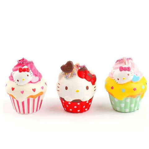 Sanrio Squishy Cupcake Ball Chain and Earphone Jack Accessory